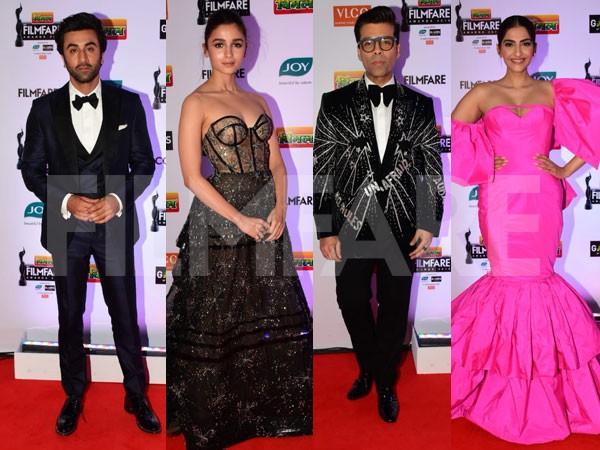 Ranbir Kapoor, Alia Bhatt, Sonam Kapoor grace the red carpet of 64th Vimal Elaichi Filmfare Awards